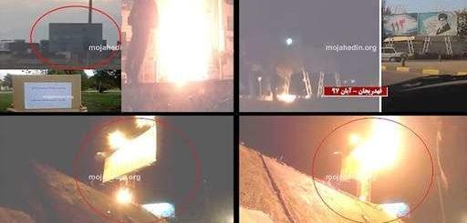 آتش زدن و تخریب بنر خامنهای فعالیت کانونهای شورشی در شهرهای ایران