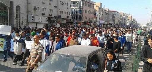 سی و هفتمین روز اعتصاب و تظاهرات کارگران فولاد اهواز