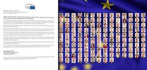 پارلمان اروپا: بیانیه گروه دوستان ایران آزاد در استقبال از اخراج سفیر و یک دیپلمات دیگر رژیم ایران از آلبانی