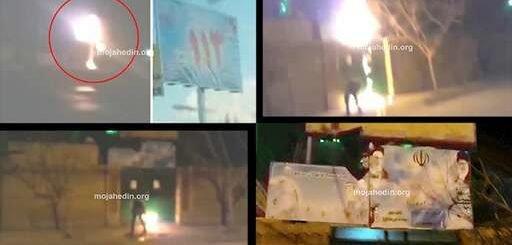 کانونهای شورشی در مشهد و مرند نمادهای حکومت ولایت فقیه را به آتش کشیدند