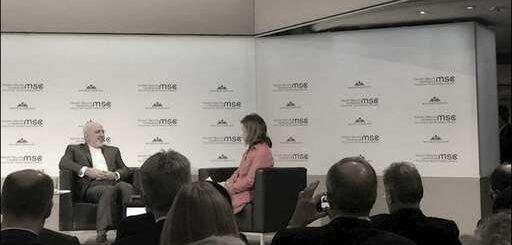 سوز و گداز ظریف در اجلاس مونیخ از موقعیت بینالمللی مجاهدین