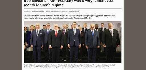 باب بلکمن نماینده پارلمان انگلستان: فوریه ماهی بسیار پرآشوب برای رژیم ایران بود