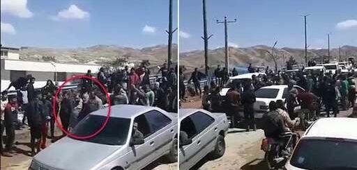  خشم مردم سیلزده پلدختر علیه پاسدار محسن رضایی، با فریاد بیشرف بیشرف + فیلم