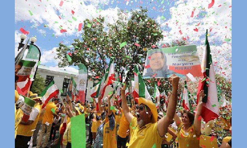 تظاهرات واشنگتن، کهکشانی رخشان در شب ایران
