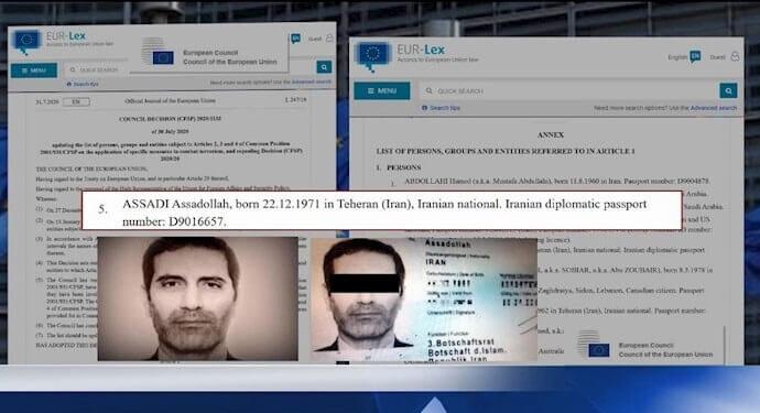 تمدید فهرست تروریستی شورای اتحادیه اروپا؛ نام اسدالله اسدی دیپلمات تروریست رژیم در این لیست است