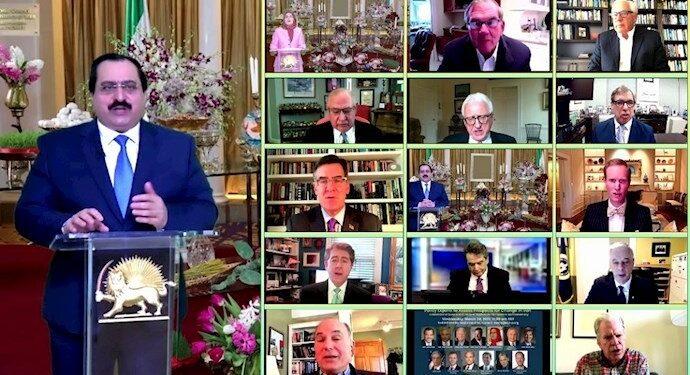 کنفرانس آنلاین در دفتر نمایندگی شورای ملی مقاومت در آمریکا؛ بررسی چشماندازهای تغییر در ایران با حضور شخصیتهای سیاسی، محققان وآکادمیسینها
