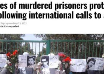 در شعارهای معترضان در خاوران اسم رئیسی از عاملان اصلی قتل عام۶۷ شنیده میشد