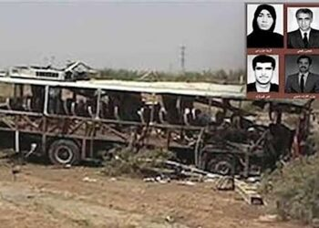 گرامی باد خاطره ۶ شهید مجاهد خلق، قربانیان انفجار اتوبوس توسط تروریستهای رژیم آخوندی