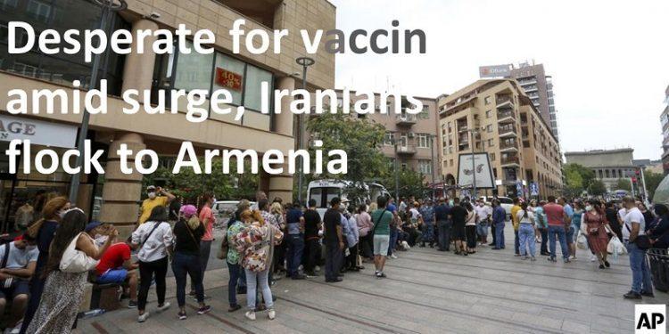 آسوشیتدپرس: ناامید از دستیابی به واکسن، ایرانیان به مرز ارمنستان هجوم میبرند