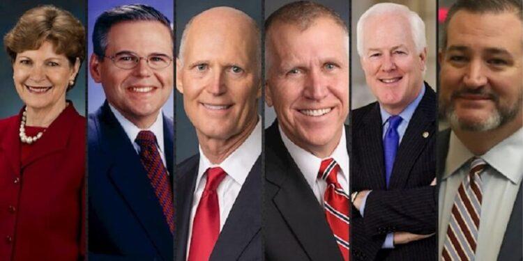 گردهمایی جهانی ایران آزاد؛ سخنرانی تد کروز، جان کورنین، تام تیلیس، ریک اسکات، رابرت منندز و جین شهین